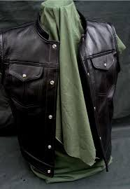 horsehide leather jeans motorcycle vest