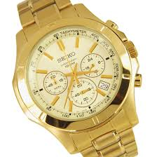 seiko chronograph stainless steel mens gold watch ssb112p1 ssb112