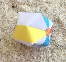 beach ball on beach. Origami Balloon Instructins Part 2 Printable Beach Ball On