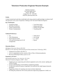 Resume Production Resume Examples