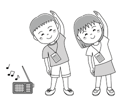 子供の夏休みラジオ体操 無料イラスト素材素材ラボ