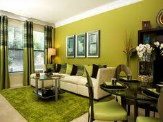 Modern living room with various shades of green - living room decor | living  room design