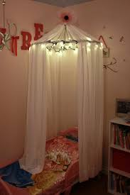 adventures in ing little girls bed canopy with lights how to make a hula hoop canopy