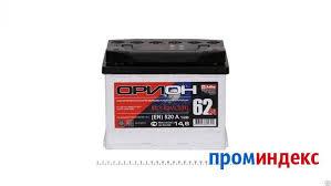 Аккумулятор <b>Орион 62Ач</b> [Европейский/Обратная полярность ...