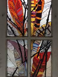 chicago mosaic school glass on window