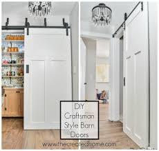 diy craftsman style barn doors