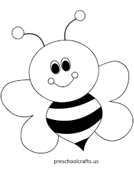 Small Picture Bee Coloring Pages Preschool and Kindergarten