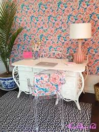 white airy home office. Peach And Blue Home Office. Design Ideas: White Airy Dining Room With Bird Cage Centerpiece Office