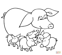 Small Picture Baby Pigs and Mother coloring page Free Printable Coloring Pages