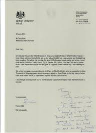 Thank You Letter From The British Ambassador In Belarus – Melodians