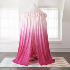 Pink Ombre Hanging Play Home Canopy + Reviews | Crate and Barrel