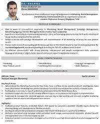 Marketing Manager Cv Format Marketing Manager Resume Sample And In