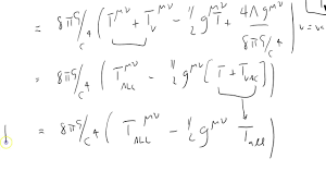 cos 11 einstein field equations with total stress energy