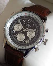 rotary men s gb03351 chronospeed chronograph brown leather strap image is loading rotary men s gb03351 chronospeed chronograph brown leather