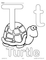 Letter T Alphabet Coloring Pages 3 Free Printable Versions Kids