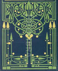 art nouveau glasgow book design an original highly stylized art nouveau design