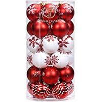 Suchergebnis Auf Amazonde Für Weihnachtskugeln Rot Weiß