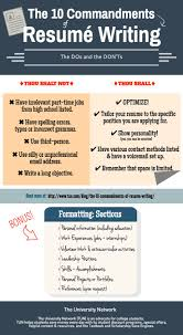 The 10 Commandments Of Resume Writing The Dos And The Don Ts When