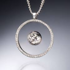 floating diamond pendant