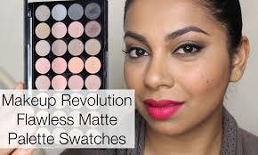makeup revolution flawless matte palette review swatches yazmakeupartist you