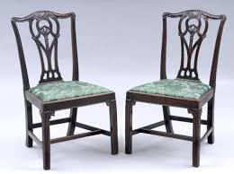 chippendale side chair. Pair Of English Period Chippendale Mahogany Side Chairs,18th Century Chair -