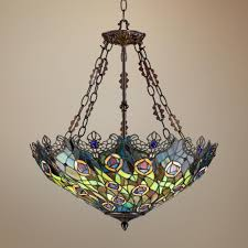 Tiffany Dining Room Lights I Want This New Peacock Feather Tiffany Chandelier Lamp In
