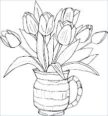 Spring Flowers Coloring Pages Printable Spring Flowers Coloring