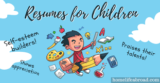 Boost Your Child's SelfEsteem With Resumes For Children Home Life Interesting Kids Resume