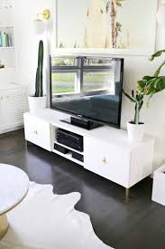 Furniture Accessories:Diy Ikea Tv Stand Ideas Long White Wooden Ikea Tv  Cabinet Stand Rectangle