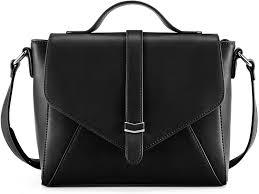Designer Black Satchel Bags Plambag Crossbody Handbag For Women Ladies Designer Satchel Shoulder Bag With Adjustable Strap