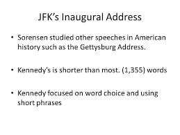 jfk s inaugural address rhetoric the study of effective use of  6 jfk s inaugural