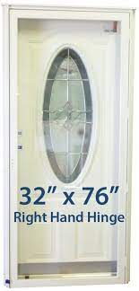 32x76 3 4 oval glass door rh for mobile