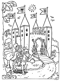 Castle Colouring In Page Drawing Ridders Kastelen Prinsessen