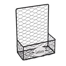 Black chicken wire letter holder departments diy at b q