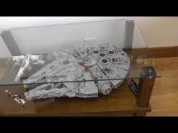 lego ucs millennium falcon coffee table