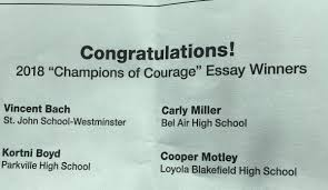 loyola blakefield loyoladons twitter loyoladons congrats to cooper motley 19 for being selected as a 2018 champions of courage essay winner donsnationpic com aoute0b3c2