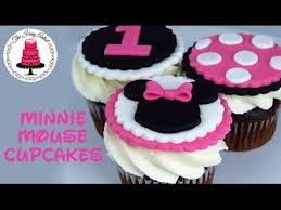 Minnie Mouse Cupcake Toppers How To With The Icing Artist