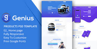 Genius Products Psd Template