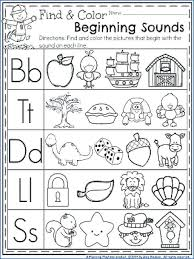 Free Beginning Sounds Worksheets Identifying Initial Consonant ...