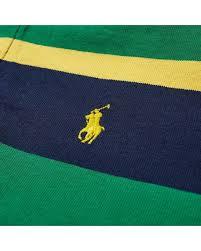 polo ralph lauren green long sleeve striped rugby shirt for men lyst
