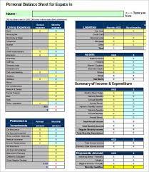 Financial Balance Sheet Template Personal Balance Sheet Template 16 Free Word Excel Pdf