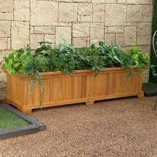 ... Adorable Large Outdoor Planter Boxes As Garden Decoration : Coll Small  Garden Decoration Using Rectangular Wooden ...