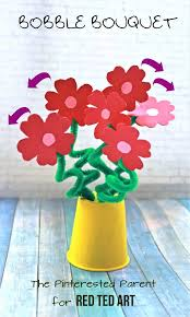 Paper Quilling Flower Bokeh Flower Bouquet Craft Red Ted Art