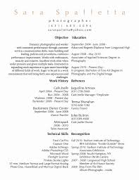Photography Resume Delectable Photography Resume Samples Objective Inspirational Photographer