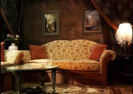 Victorian Living Room Furniture Breathtaking Victorian Living Room Style With Floral Motive Couch