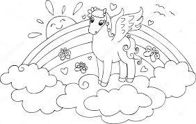 Più Recente Unicorno Con Le Ali Da Colorare Disegni Da Colorare