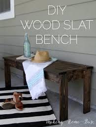 diy furniture west elm knock. Brilliant Furniture DIY Wood Slat Bench  West Elm Knock Off Intended Diy Furniture