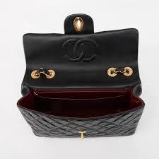 chanel vintage bag. chanel vintage black maxi single flap bag o