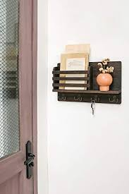 dahey wall mounted mail holder wooden