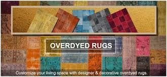 overdyed rugs reform your space with bright colors